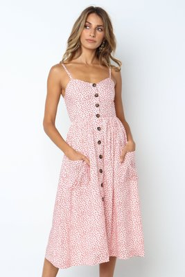 Spaghetti Straps Beach Dress