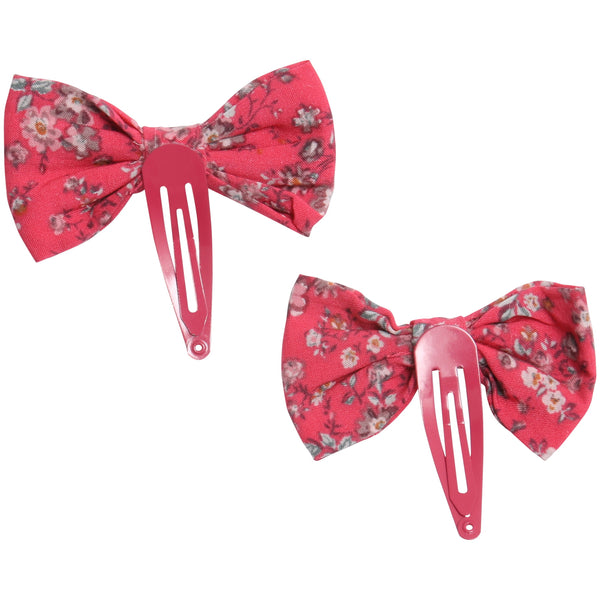 Wheat Bow Clips Victoria | Claret Red