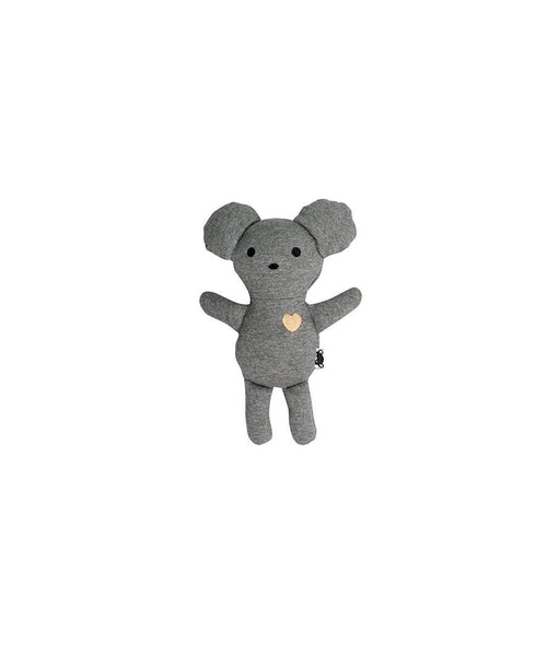 Huxbaby Toy | Mouse | Charcoal Slub