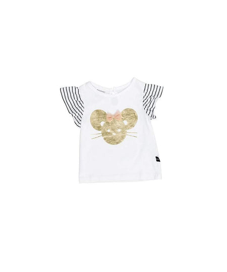 Huxbaby White Drop Back T-Shirt | Crosses