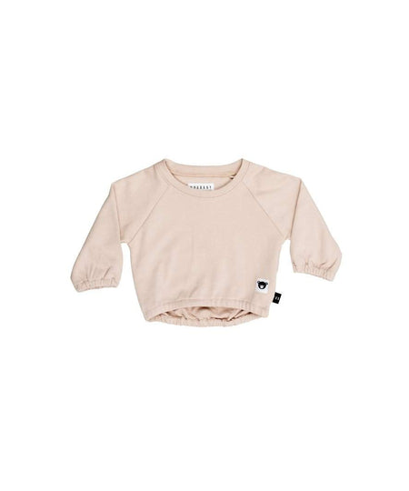 Huxbaby Long Sleeve Frill Top | Bunny | Black