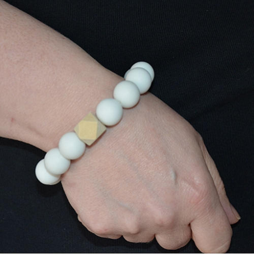 Dove and Dovelet Bangle | White | GEO-BubandBoo