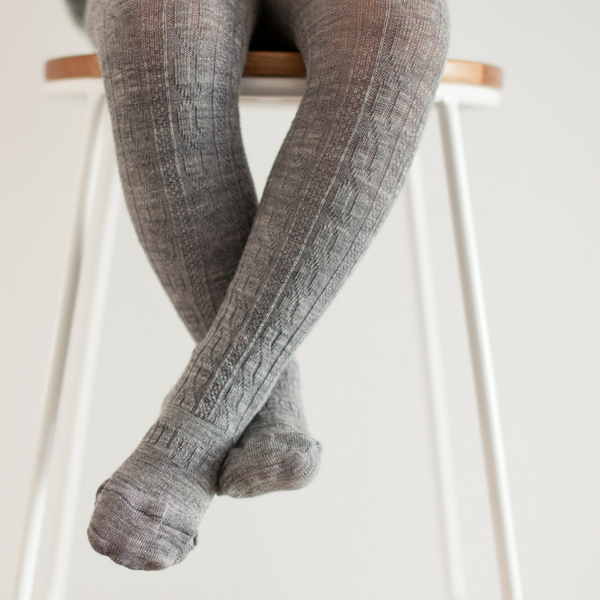 Lamington | Tights | Grey Cable