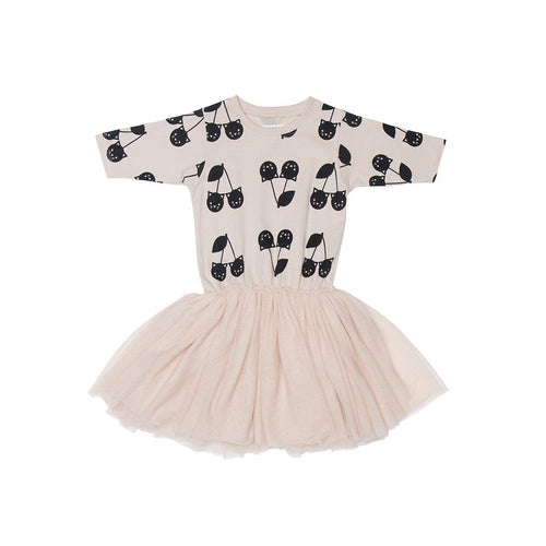 Huxbaby shell cherry cat ballet dress