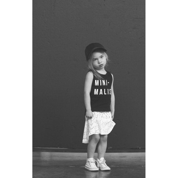 Huxbaby Black Drop Back Singlet | Mini-Malist-BubandBoo