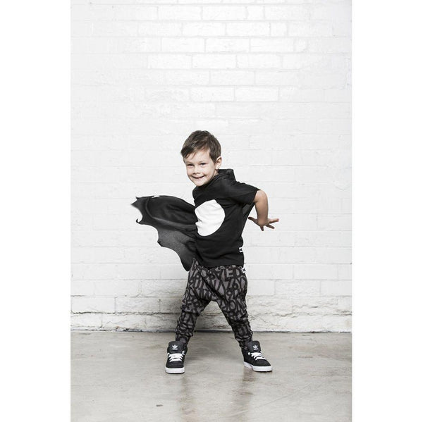 Huxbaby Black Drop Back T-Shirt | Big Dot-BubandBoo