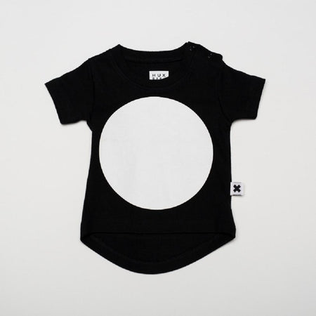 Huxbaby Black Drop Back Singlet | Mini-Malist