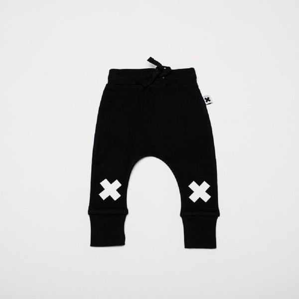 Huxbaby X print drop crotch pants