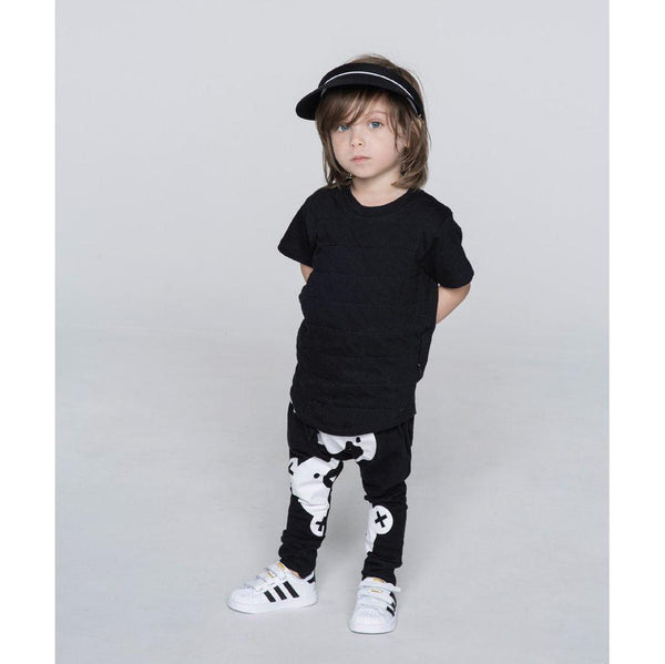 Huxbaby Drop Back T-Shirt | Black Quilted-BubandBoo