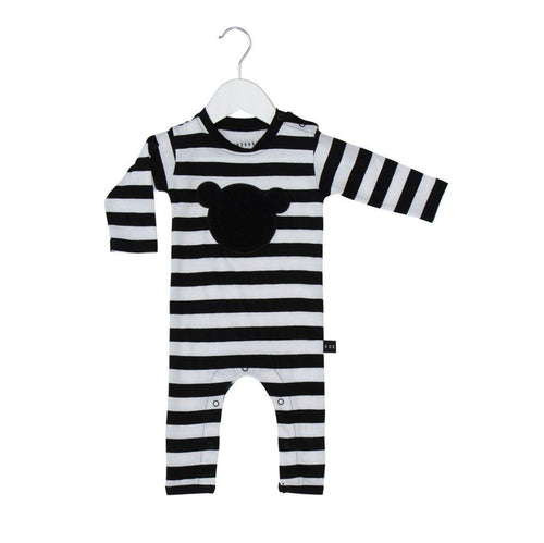 Huxbaby shadow bear long romper