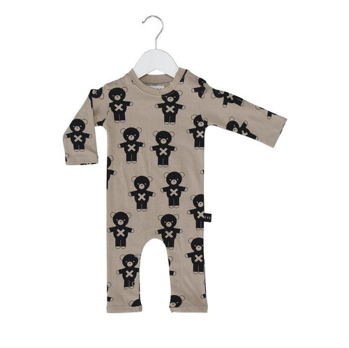 Huxbaby soldier bears long romper