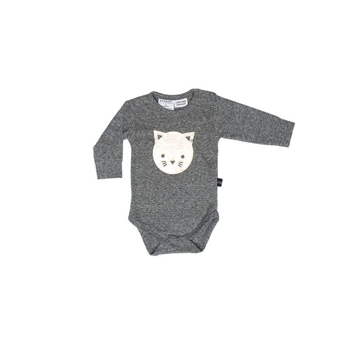 Huxbaby cat long sleeve onesie
