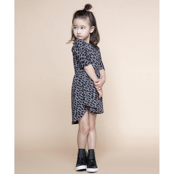 Huxbaby Swirl Dress | Big Cat | Steel Grey-BubandBoo