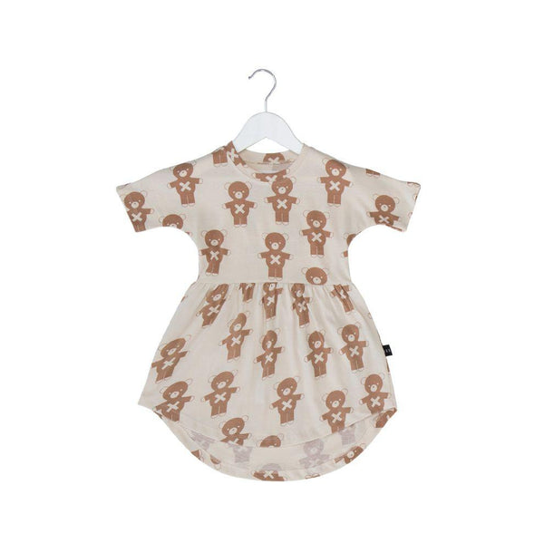 Huxbaby soldier bears swirl dress