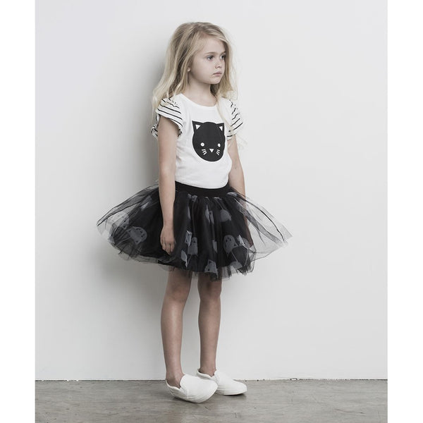 Huxbaby Tulle Skirt | Cherry Cat | Black-BubandBoo