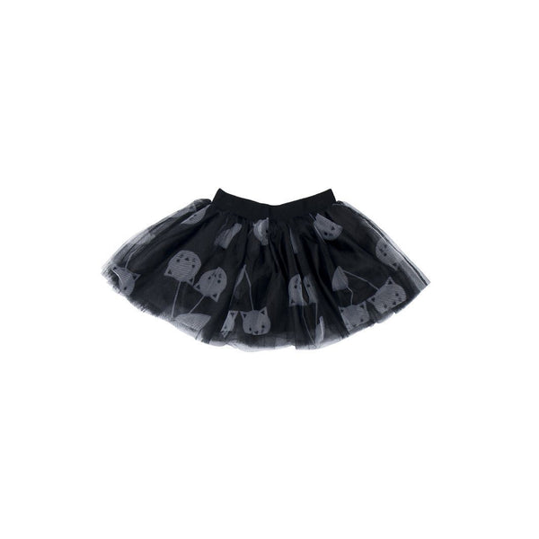 Huxbaby black cherry cat tulle skirt