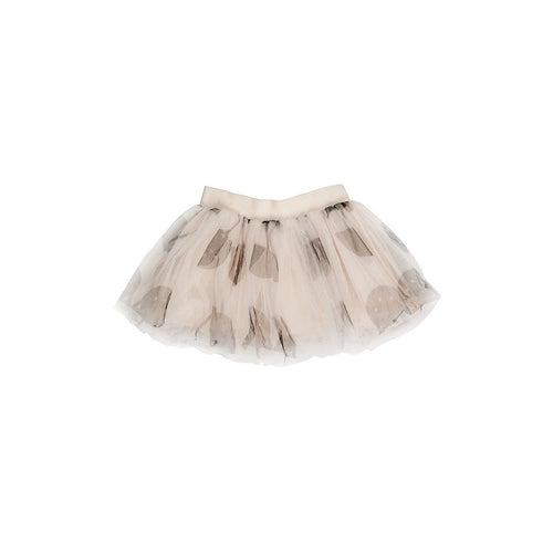 Huxbaby shell cherry cat tulle skirt