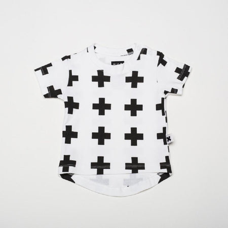 Huxbaby Frill Top | Bunny | Black + White Stripe
