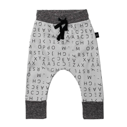 Huxbaby lost alphabet drop crotch pant