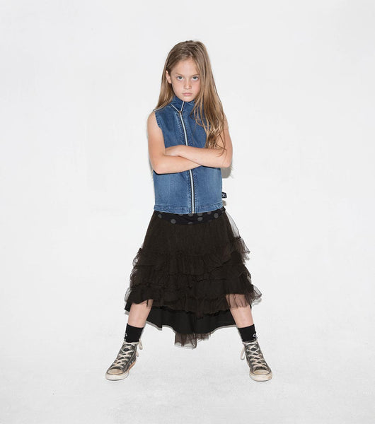 NUNUNU Tulle Skirt | Dyed Black