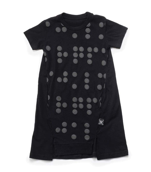 NUNUNU A Dress | Black | Braille-BubandBoo
