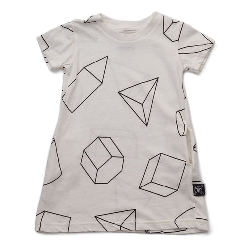 NUNUNU white geometric A dress