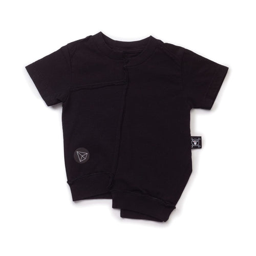 NUNUNU black asymmetrical t-shirt