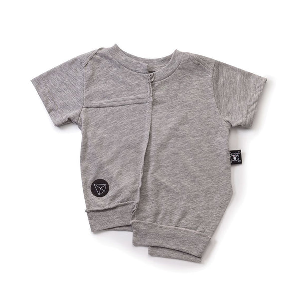 NUNUNU heather grey asymmetrical t-shirt