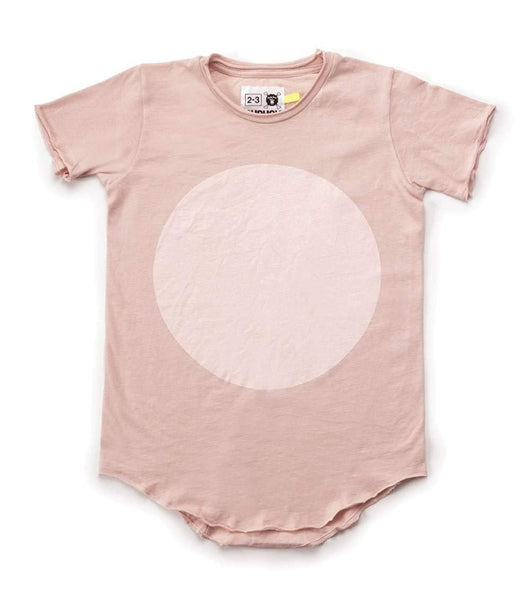 NUNUNU Circle T-Shirt | Powder Pink-BubandBoo