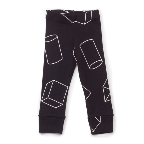 NUNUNU black geometric leggings
