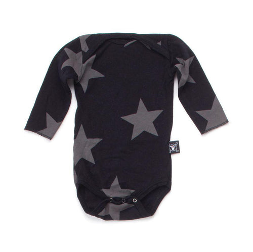 NUNUNU black star long sleeve onsie