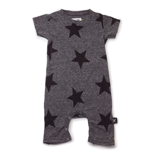 NUNUNU charcoal star print playsuit