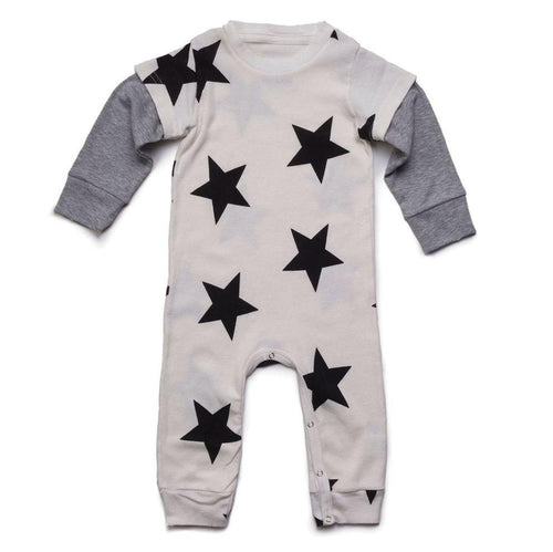 NUNUNU white star print playsuit