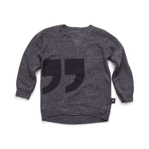 NUNUNU charcoal quotation pullover
