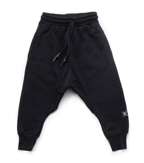 NUNUNU Raw Pants | Black-BubandBoo