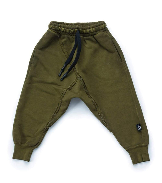 NUNUNU Raw Pants | Rusty Green-BubandBoo