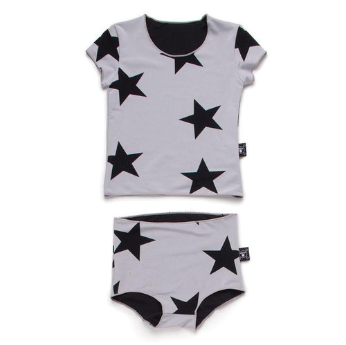 NUNUNU Grey Star Shirtini