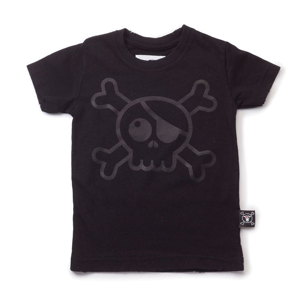 NUNUNU black big skull t-shirt
