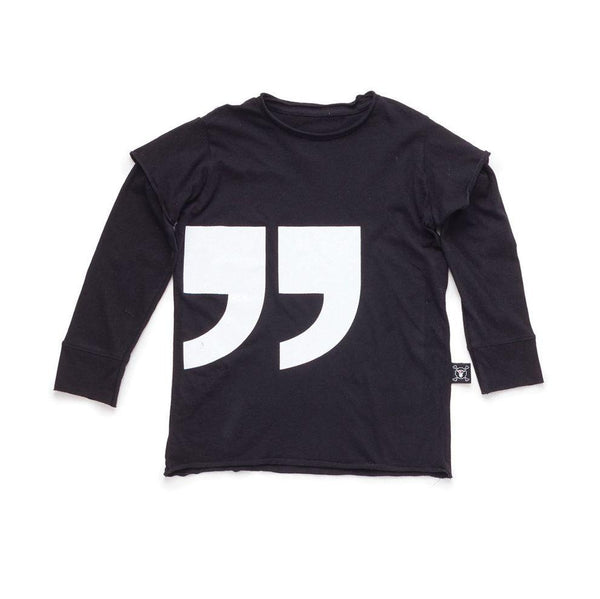 NUNUNU black quotation t-shirt
