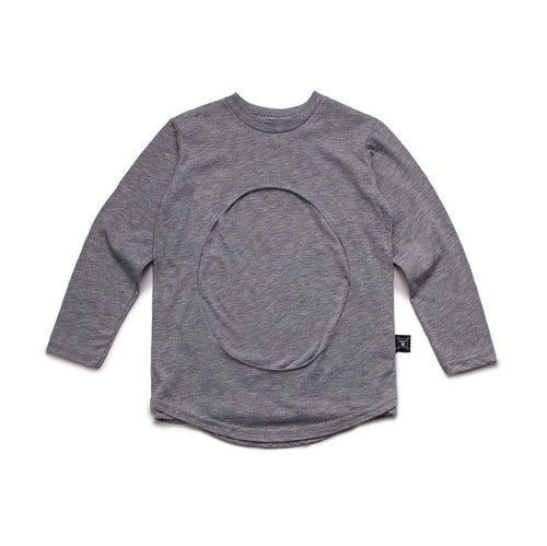 NUNUNU heather grey layered circle t-shirt