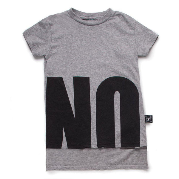 NUNUNU heather grey NO! t-shirt
