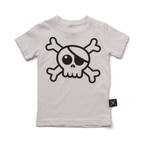 NUNUNU white big skull t-shirt