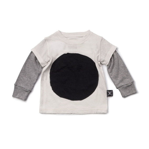 NUNUNU white circle patch t-shirt
