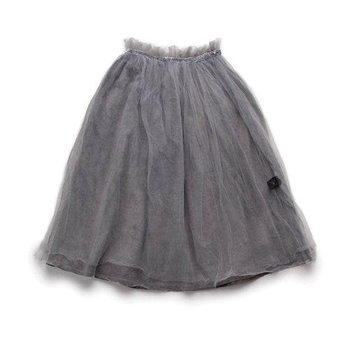 NUNUNU dyed grey maxi tulle skirt
