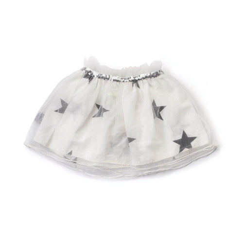 NUNUNU white star tulle skirt