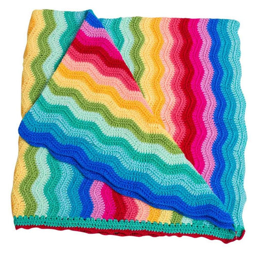 OB Designs rainbow ripple blanket