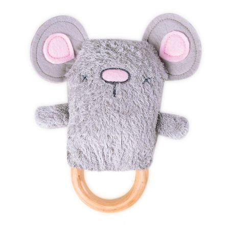 OB Designs Dingaring Teething Rattle | Moe Mouse-BubandBoo