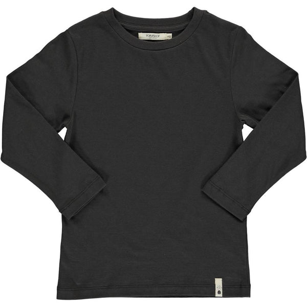 Popupshop Basic Long Sleeve Tee | Vintage Black-BubandBoo