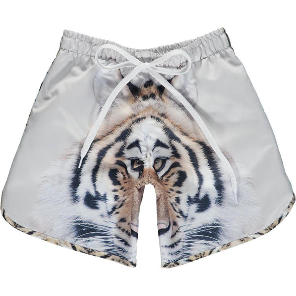 Popupshop long tiger swim shorts