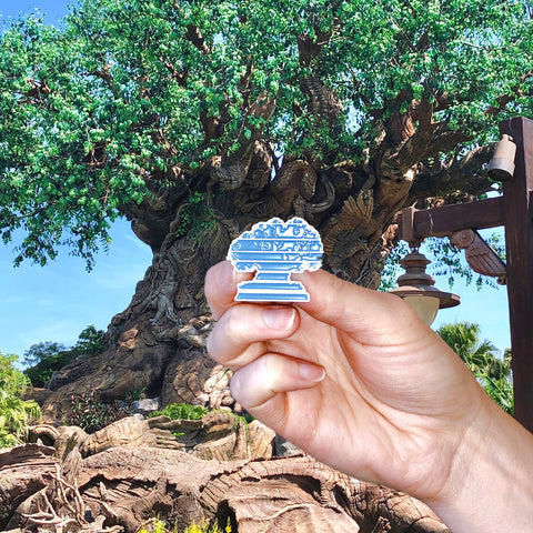 Retro Tree of Life Pin